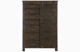 Pine Hill Rustic Pine Wood Door Chest