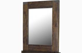 Pine Hill Rustic Pine Wood Portrait Mirror