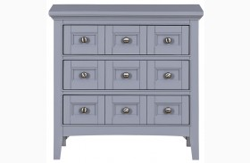 Graylyn Steel Drum Wood Drawer Nightstand