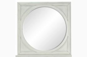 Hancock Park Vintage White Square Mirror