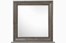Talbot Driftwood Portrait Concave Framed Mirror