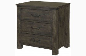 Abington Weathered Charcoal Drawer Nightstand
