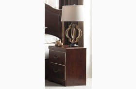 Chanlyn Reddish Brown 2 Drawer Nightstand