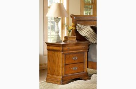 Shenandoah American Oak 3 Drawer Nightstand