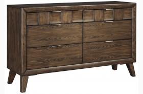 Debeaux Medium Brown 6 Drawer Dresser