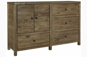 Fennison Light Brown Dresser