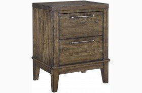 Zilmar Brown 2 Drawer Night Stand