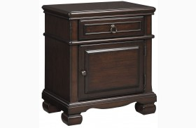 Brulind Brown 1 Drawer Nightstand