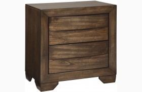 Mydarosa Brown 2 Drawer Nightstand