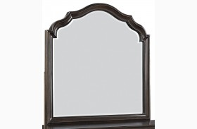 Moluxy Dark Brown Bedroom Mirror
