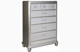 Coralayne Silver 5 Drawer Chest