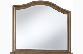 Trishley Light Brown Bedroom Mirror