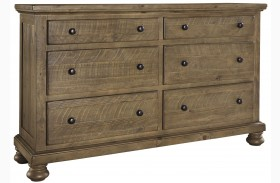 Trishley Light Brown Dresser