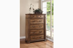 Barclay Rustic Acacia 5 Drawer Chest