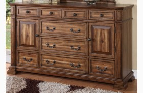 Barclay Rustic Acacia 9 Drawer Dresser