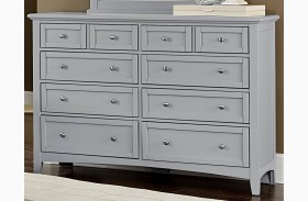 Bonanza Gray 8 Drawer Triple Dresser