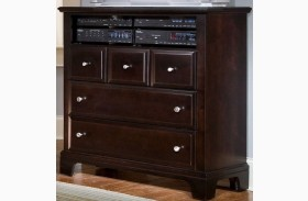 Hamilton/Franklin Merlot 3 Drawer Media Cabinet