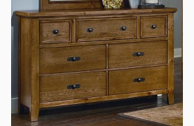 Timber Mill Oak 7 Drawer Dresser