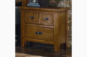 Timber Mill Oak 2 Drawer Nightstand