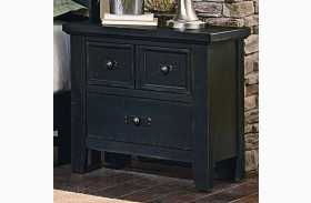 Timber Mill Charcoal 2 Drawer Nightstand