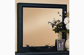 Timber Mill Charcoal Landscape Mirror