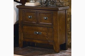 Timber Mill Pine 2 Drawer Nightstand