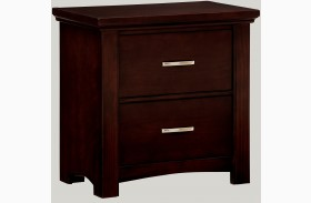 Transitions Merlot 2 Drawer Nightstand