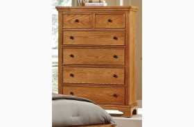 Forsyth Medium Oak 5 Drawer Chest