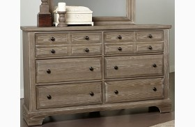 Bedford Washed Oak 6 Drawer Dresser