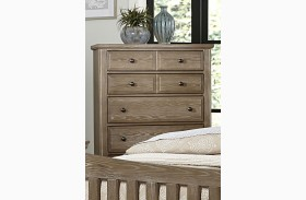 Bedford Washed Oak 5 Drawer Chest