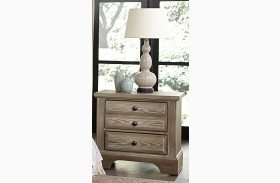 Bedford Washed Oak 2 Drawer Nightstand
