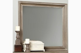 Bedford Washed Oak Landscape Mirror