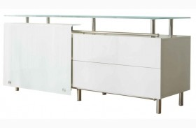 Ritz White High Gloss Lacquer Bellini Medium Buffet