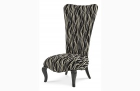 Beverly Boulevard Black Lacquer Armless Chair