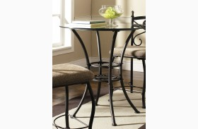 Brookfield Glass Round Counter Height Dining Table