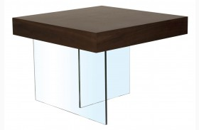 Cleo Blain Dark Walnut End Table