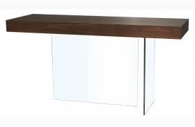 Cleo Blain Dark Walnut Console Table
