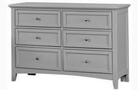Bonanza Gray Double 6 Drawer Dresser