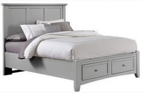 Bonanza Gray Twin Mansion Storage Bed