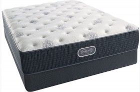 Beautyrest Recharge Silver Offshore Mist Tight Top Luxury Firm Queen Size Mattress with Foundation