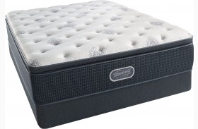 Beautyrest Recharge Silver Offshore Mist Pillow Top Plush Queen Size Mattress with Foundation