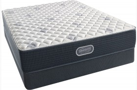 Beautyrest Recharge Silver Offshore Mist Tight Top Extra Firm Queen Size Mattress with Foundation