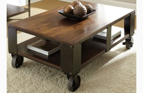 Barrett Medium Cherry Square Cocktail Table