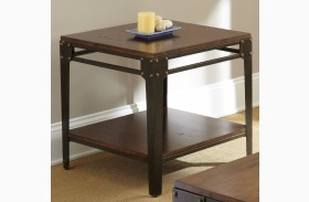 Barrett Medium Cherry Square End Table
