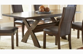 Bernini Chocolate Brown Extendable Rectangular Dining Table