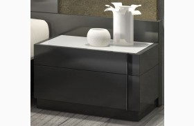 Braga Natural Grey Lacquer RAF Nightstand