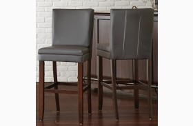 Bennett Gray Vinyl Counter Chair Set of 2