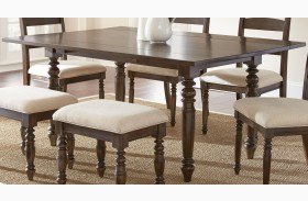 Bexley Warm Espresso Rectangular Drop Leaf Dining Table