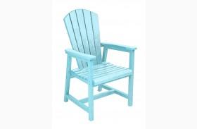 Generations Aqua Adirondack Dining Arm Chair