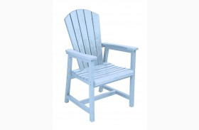 Generations Sky Blue Adirondack Dining Arm Chair